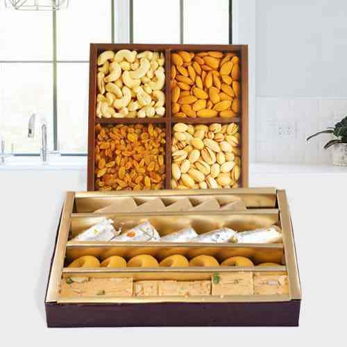 Assorted Dry Fruits with Assorted Sweets