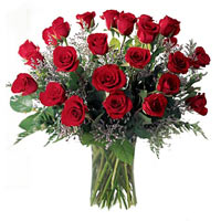 Majestic White and Red Colored Roses Big Bouquet