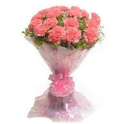 Luxurious Pink Coloured Carnations Arrangement <br>  <br>