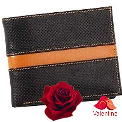 Trendy and Chic Looking Genuine Leather Mens Wallet in Black and Brown from Leather Talks