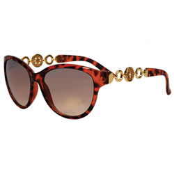 Seductive Chain Linked Tortoise Shell Ladies Sunglasses Designed by Avon