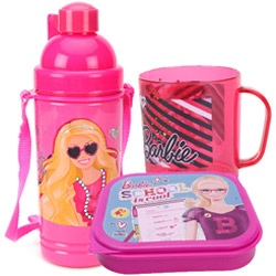 Beautiful Kids Delight Barbie Tiffin Set