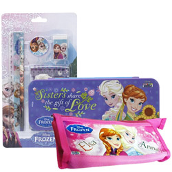 Beautiful Stationery Set with Disney Frozen Design for Little Princess