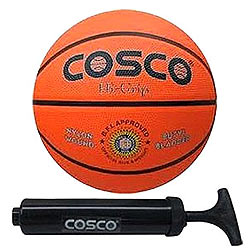 Lovely Cosco Hi-Grip Basketball -5 with Cosco Hand Pump