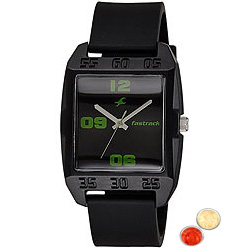 Appealing Fastrack Gents Watch with free Roli Tilak and Chawal
