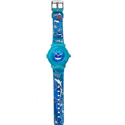 Titan Zoop Presents Beautiful Oceanic Printed Blue Coloured Watch for Kids