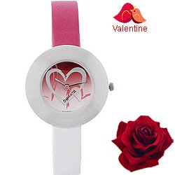 Admirable Round Shaped Ladies Watch from Sonata