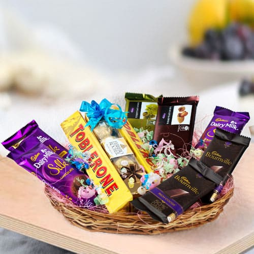 Irresistible Assorted Chocolates Gifts Basket
