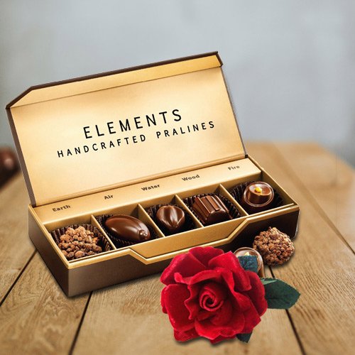 Chocolate Box from ITC with Velvet Rose