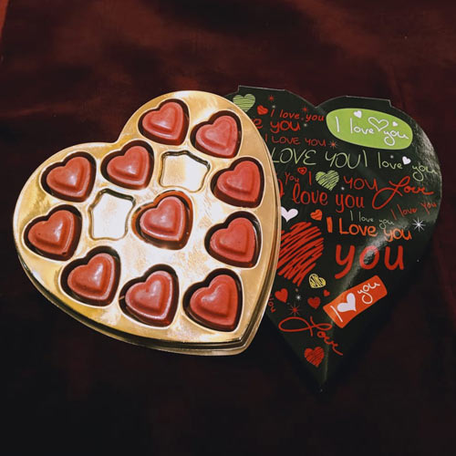 Yummy Strawberry Handmade Chocolate of Heart Shape