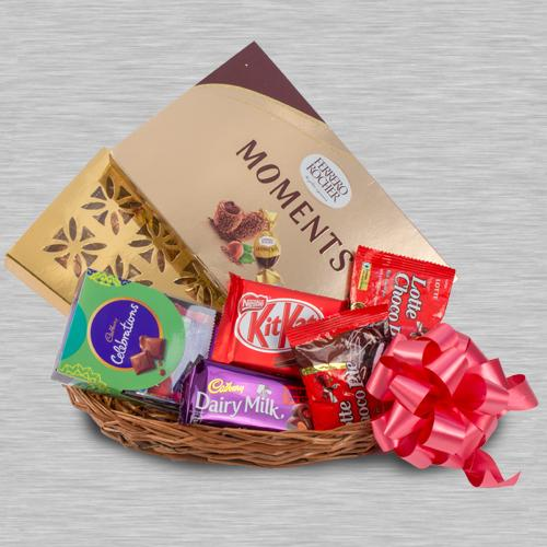 Amazing Chocolaty Gifts Basket for Kids
