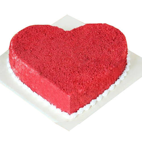 Sumptuous Red Velvet Cake in Heart-Shape