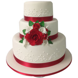Designer 3 Tier Wedding Cake