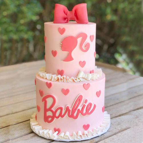 Indulgent Two Tier Barbie Cake for Little One