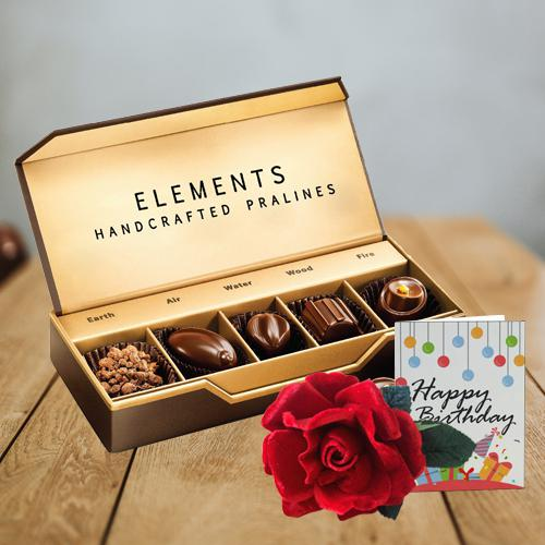 Amazing ITC Elements Chocos with Velvet Rose N Party Accessories