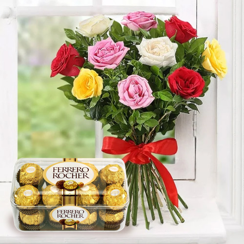 Melt-in-Your-Mouth Ferrero Rocher Chocolate with Mixed Flower