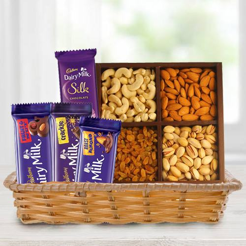 Crunchy Dry Fruits with Assorted Cadbury Chocolates