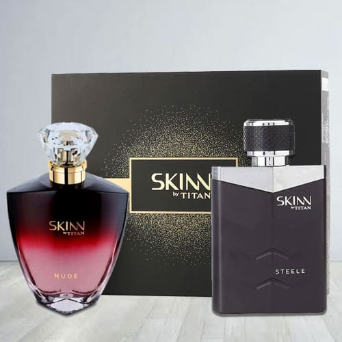 Refreshing Titan Skinn Nude and steele Fragrances Pair