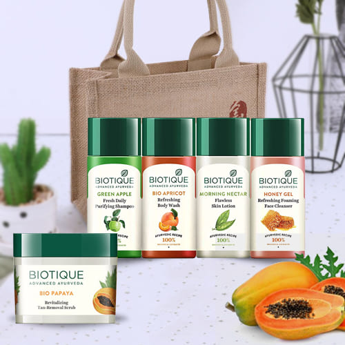 Delightful Biotique Bio Papaya Revitalizing Tan Removal Scrub and Biotique Travel Kit