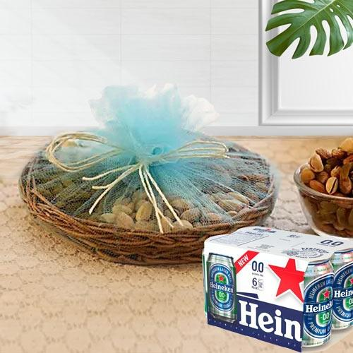 Exclusive Dry Fruits n Non Alcoholic Drink Gift Hamper
