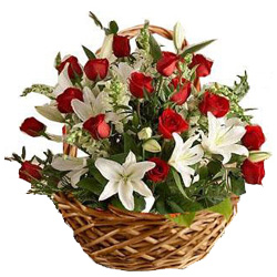 Grinning Special Premium Arrangement of Blushing Blossoms