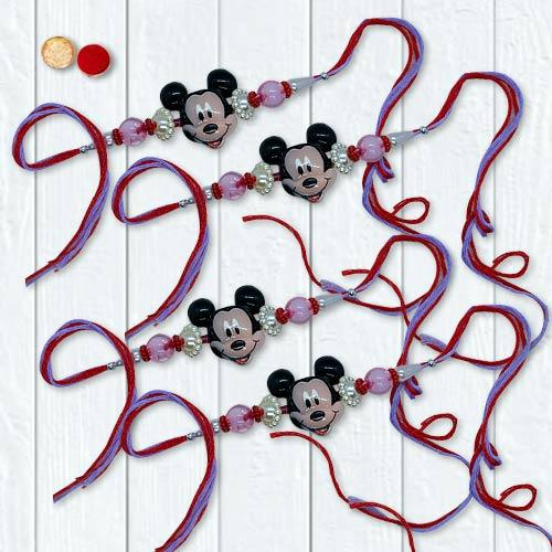 Remarkable Mickey Mouse Rakhi Set