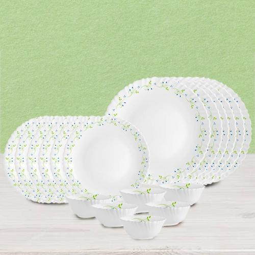 Mesmerizing Cello Opalware Tropical Lagoon Dinner Set