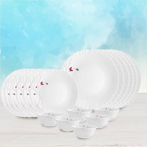 Wonderful Cello Lush Fiesta Opalware Dinner Set
