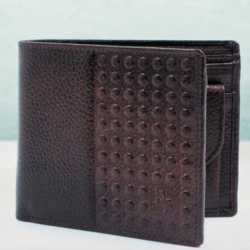Superb Dark Brown Leather Wallet for Men