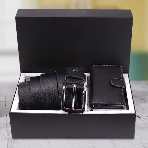 Marvelous Hide and Skin Mens Leather Card Holder N Formal Belt