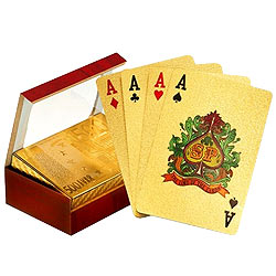 Authentic and Certified Gold Plated Playing Cards