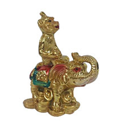 Exclusive Feng Shui Monkey on Elephant