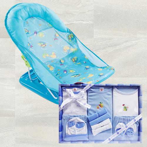 Exclusive Baby Bather N Cotton Clothes Gift Set