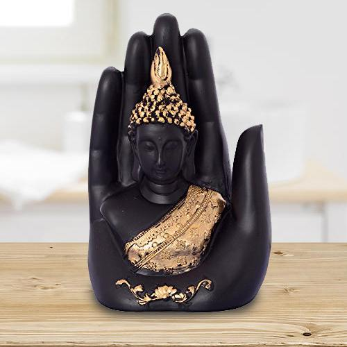 Exclusive Golden Handcrafted Palm Buddha