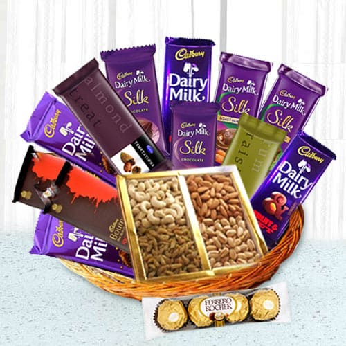Special Chocolate with Dry Fruits Hamper