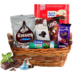 Satisfying Chocolate Treat Gift Basket<br>