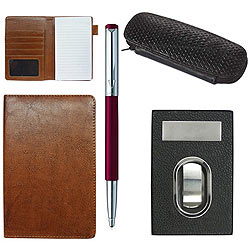 Parker Vector Pen, Passport Holder, Visiting Card Holder N Pen Case