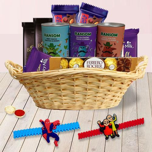 Kids Rakhi n Chocolates Gift Hamper
