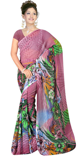 Amazing Suredeal Branded Georgette Fabric Printed Saree