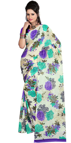 Remarkable Faux Georgette Printed Saree