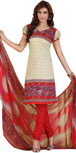 Sizzling Women's Favorites Printed Salwar Suit from Siya
