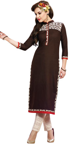 Eye-Catching Brown Colour Collection of Cotton Fabric Suit