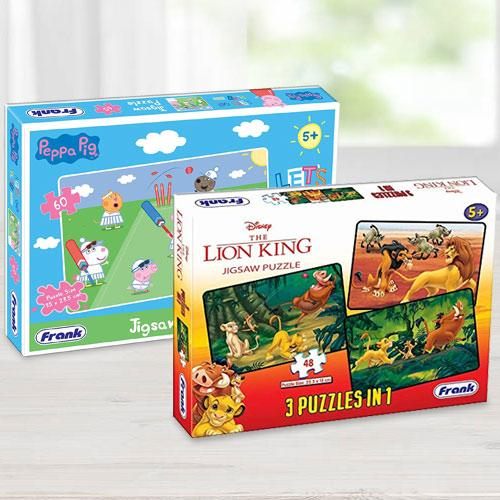 Exclusive Frank Disney The Lion King N Peppa Pig Puzzles Set