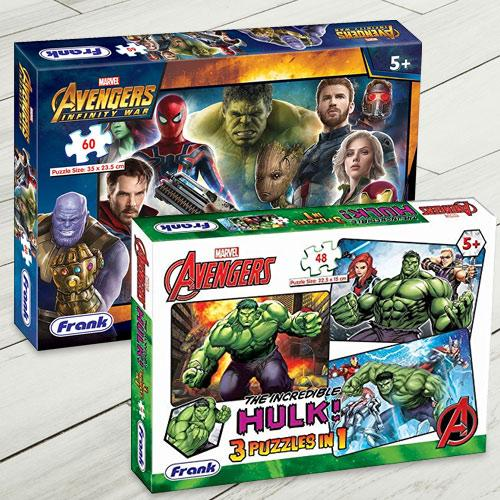 Exclusive Frank Marvel Avengers Jigsaw Puzzle Set