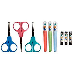 Nuby-Manicure Set On Card Nail Clipper, Scissors & Plastic Printed File
