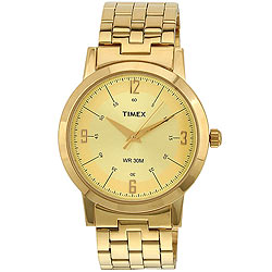 Sober-looking Gents Watch from Timex in Golden Colour